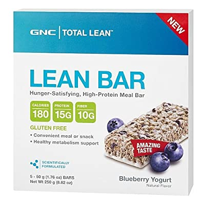 GNC Total Lean Lean Bar Blueberry Yogurt 5 bars
