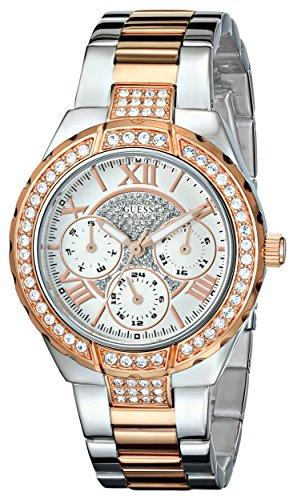 GUESS-Womens-U0111L4-Sparkling-Hi-Energy-Silver-And-Rose-Gold-Tone-Watch