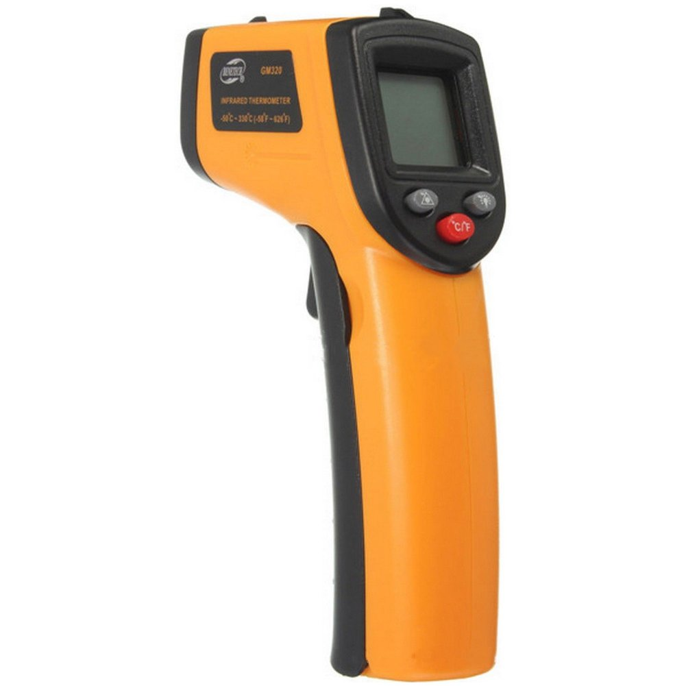 Infrared Non-contact Digital Temperature Gun Thermometer with Laser Bright LCD Display -58��F to 716��F(-50 ~ 380��C) Instant-read Portable Handheld - Cooking/Automotive Maintenance - Battery Included