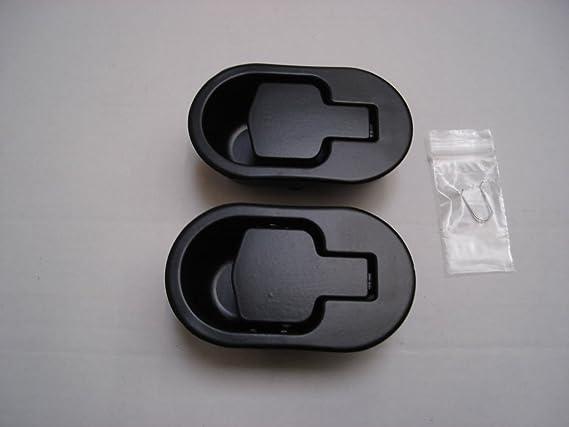 RECLINERSPARES UK 2 x Manguitos de Repuesto de aleación de Metal Negro para sillas de reclinación ARH5