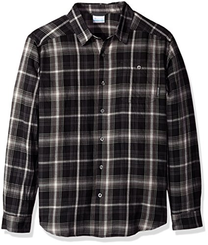 Columbia Men's Cornell Woods Flannel Long Sleeve Shirt, Shark Multi Plaid, - Shop Online Wood