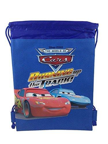 Strings Disney Cars (Disney Cars Blue Drawstring Backpack Tote Bag)