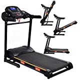 Gymax Folding Fitness Exercise Treadmill Electric Motorized Power 1000W Treadmill Portable Running Gym Fitness Machine W/ Incline