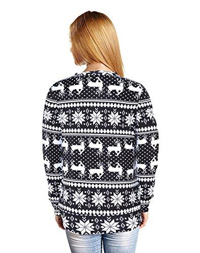 Ugly Christmas Toddler Cardigan Costumes (frose Unisex Casual Loose Hoodies Hooded Sweater Geometric Elk Snowflakes Long Sleeve)