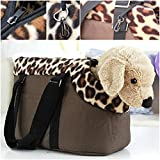 First-class Popular Pet Handbag Size L Dog Portable Travel Carrier Cat Nesting Color Coffee Leopard