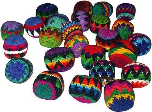 Set of 25 Hacky Sacks, Assorted Colors