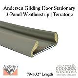 Andersen Perma-Shield Gliding Door - Lock Style Weatherstrip, Stationary 3 Panel - Terratone