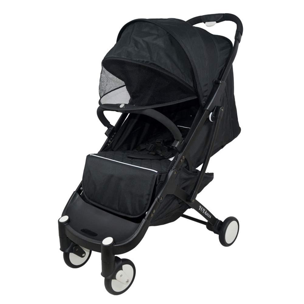 0-36ヶ月の赤ちゃんの使用に適した新生児や幼児、オールテレイン軽量フィットネスジョギングベビーカーのためのベビーカー  Black B07N7ZSYBQ