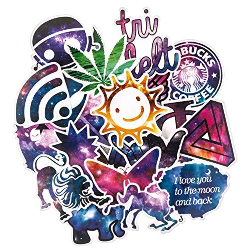 Graffi Stickers[100pcs], Galaxy Sticker for Personalize Laptop Water Bottle Car Helmet Skateboard Luggage Bike Bumper Waterproof Logo Vinyl Decals, Best Gift for Kids,Girls,Adult- No-Duplicate Pack