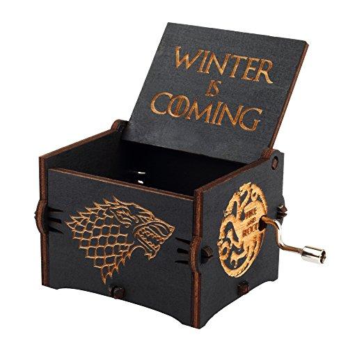 Grabado Madera Caja De Música Caja De Música Tema principal Game of Thrones Game of Thrones regalo