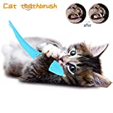 Macro Cat Toothbrush, Natural Rubber Soft Fish Shape Toys Pet Cat Chew Toy with Catnip Cleaning Grinding Claw Chew Pet Supplies for Cat