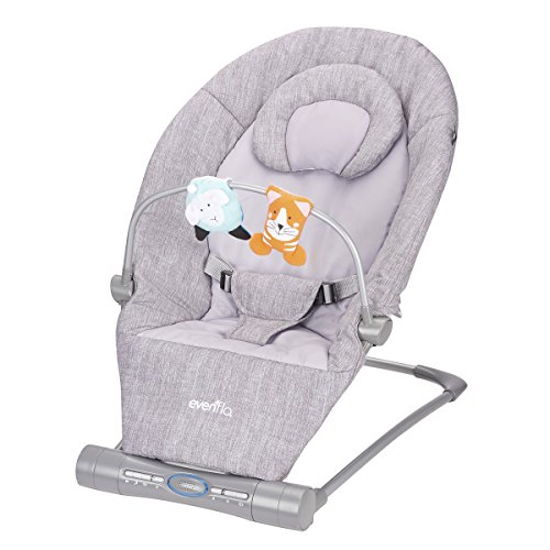 Bouncer Infant (Evenflo Lyric Musical Bouncer, Grey Melange)