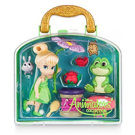 Disney Animators' Collection Tinker Bell Mini Doll Playset (Crocodile From Peter Pan Costume)