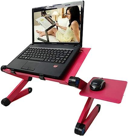 Table Ordinateur sur Lit Magazine et Petit D/éjeuner-Noir Support de Lecture inclinable pour canap/é Table pour PC Livre Table de Lit Pliable