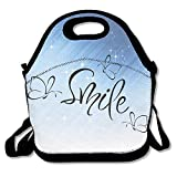 Xiisxin Smile Lunch Tote Bag - Large & Thick Insulated Tote - Suit For Men Women Kids
