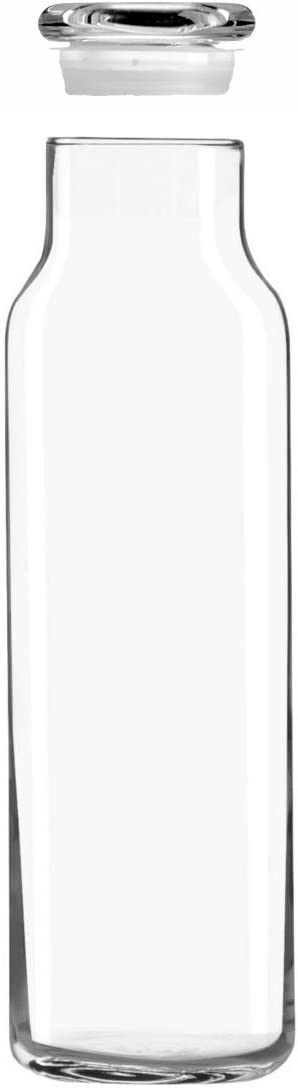 Libbey Glass 24 Oz. Hydration Decanter Carafe Bottle w/Lid - Straight Cylinder