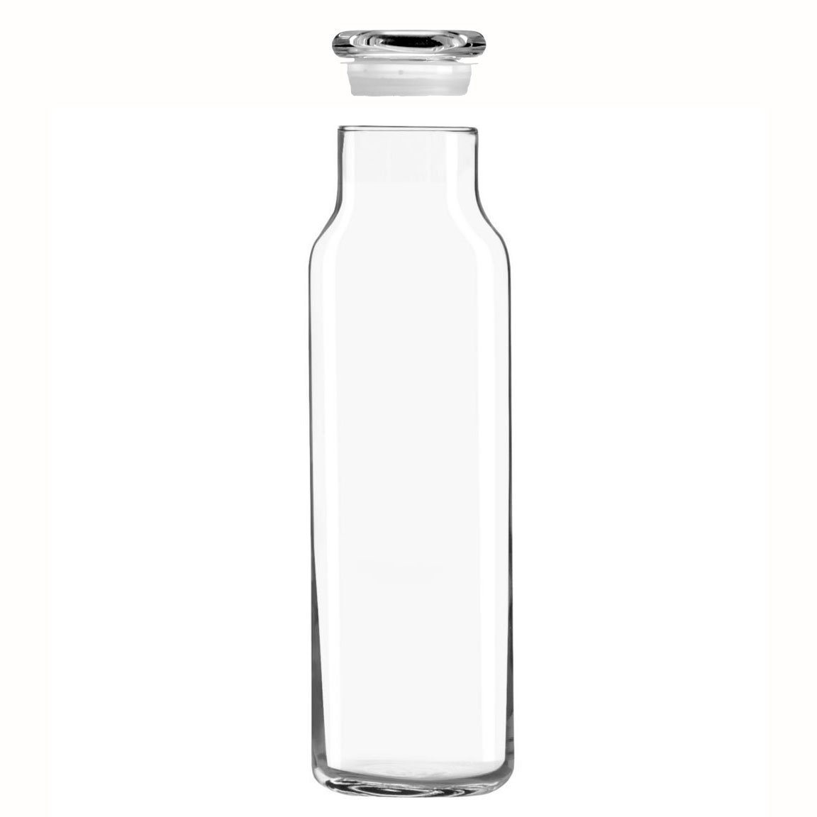 Libbey Glass 24 Oz. Hydration Decanter Carafe Bottle w/ Lid - Straight Cylinder 24ozdecanter 377