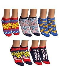 DC Comics Wonder Woman 5 Pack Low Cut Ankle Socks