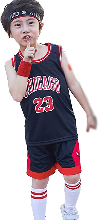 Kids Baby Boys Girls #23 Michael  Bulls Basketball Jerseys Short Suits UK 2020