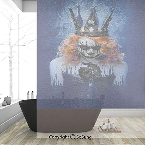 3D Decorative Privacy Window Films,Queen of Death Scary