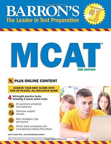 Barron's MCAT, 3rd Edition: with Bonus Online Tests
