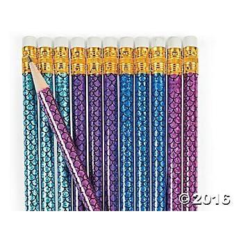 Mermaid Pencils - 24 ct