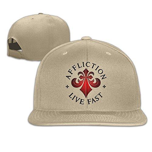 YL&GF Affliction-LogoCLASSIC Men Women Baseball Adjustable Cap Strapback Hats Natural -