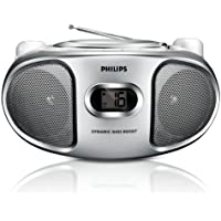 Philips AZ102S Portable BOOMBOX Sound machine CD Player with AM/FM Radio - Silver AZ102S/98