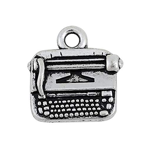 FidgetGear 20pcs Movable Typewriter Charm Reporter Writer Pendant Vintage Jewelry Lot Show One Size