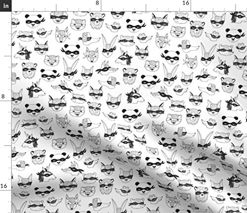 - bandit animals // kids dress up cute masks robbers cute kids play time Fabric - Animal Costume Black And White Bandit Dress Up by Andrea Lauren Printed on Petal Signature Cotton Fabric by the Yard