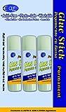 Glue Sticks - 3 pack - .28 oz each - Clear Glue 48 pcs sku# 1864628MA