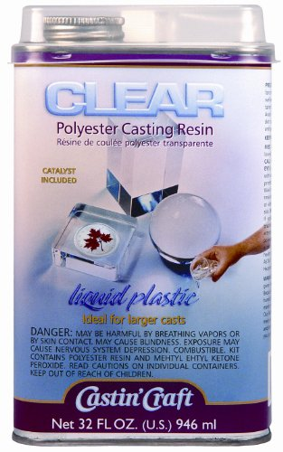 Clear polyester casting resin