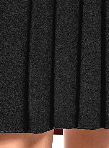 Contrastante 2900n Jupe Ultra Doublure avec Femme Noir Plisse oodji wzag6a