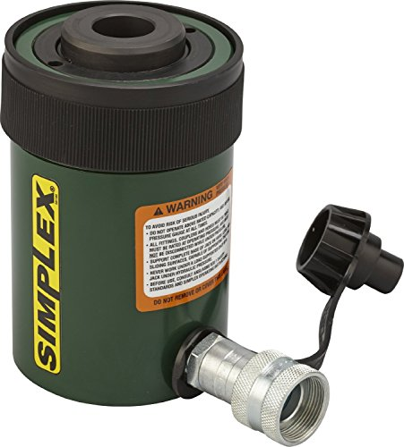 Simplex RC202A Steel Single Acting Center Hole Cylinder, 8456 PSI, 1.06
