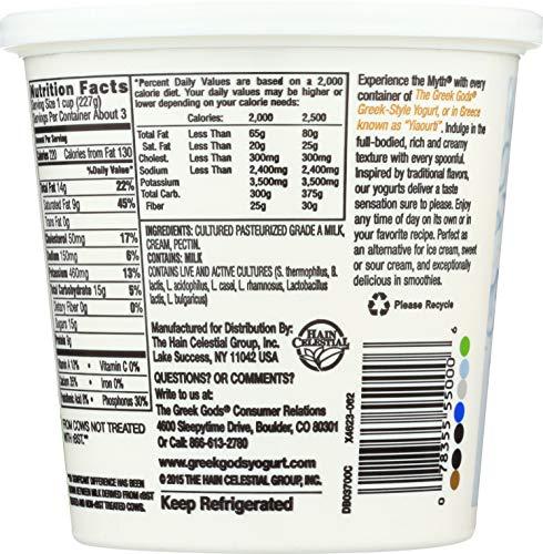 Greek Gods Traditional Plain Greek Yogurt, 24 oz
