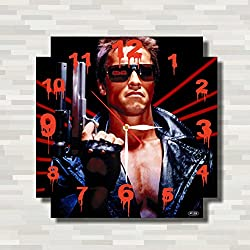 The Terminator - Arnold Schwarzenegger 11.4'' Handmade Wall Clock ( ACRYLIC GLASS ) - Get unique décor for home or office – Best gift ideas for kids, friends, parents and your soul mates