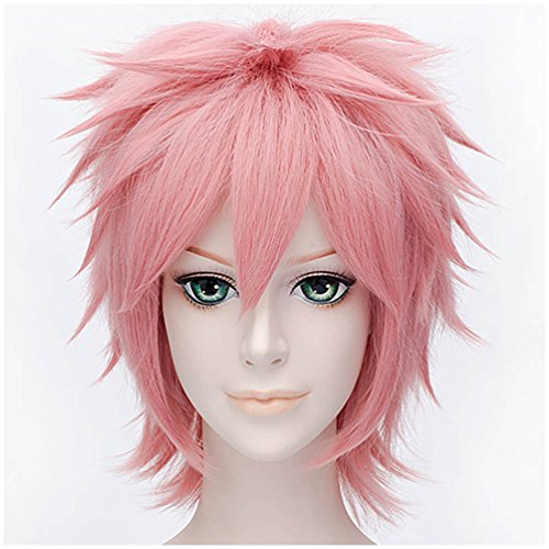 Flovex Short Straight Anime Cosplay Wigs Natural Sexy Costume Party Daily Hair (Smoky (Hot Cosplay Anime)
