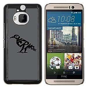 EJOOY---Cubierta de la caja de protección para la piel dura ** HTC One M9Plus M9+ M9 Plus ** --Nunca más cuervo