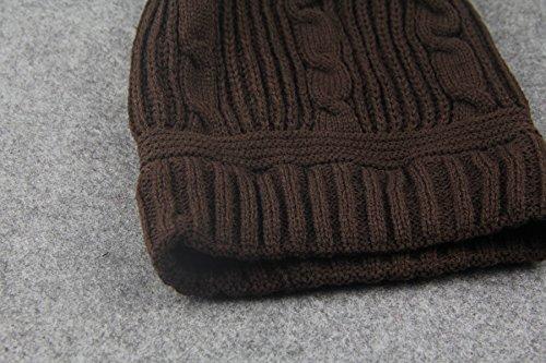 de lana largas neutral de Beige gorro orejeras Casquillo la capucha 6w785qq