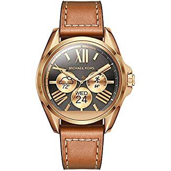 e88c6bce2 Aimtel Compatible 22mm Michael Kors Access Band, 22mm Genuine Leather Strap  Bands Replacement Strap Band