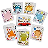 Kidsco Make Your Own Sticker - 96 Stickers Assortment, includes: Zoo Animals, Cars, Sea Creature, and More - for Kids, Arts, Parties, Birthdays, Party Favors, Crafts, School, Daycare, Etc.