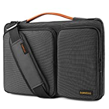 Tomtoc 15.6 Inch Laptop Shoulder Bag, 360° Protective Laptop Sleeve Case for 15 - 15.6 Inch ThinkPad Dell HP Acer ASUS Toshiba Samsung Chromebook Notebook Ultrabook Laptop Tablet, Black