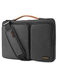 Tomtoc 13 - 13.5 Inch Laptop Shoulder Bag, 360° Protective Laptop Sleeve Case for 13.3 Inch MacBook Air | MacBook Pro Retina 2012 - 2015 | Surface Book Performance Base| Chromebook | Notebook | Tablet, Black