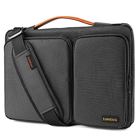 Tomtoc 14 - 15 Inch Laptop Shoulder Bag, 360° Protective Laptop Sleeve for 15 Inch New MacBook Pro Touch Bar 2017 & 2016 (A1707), Dell XPS 15, Surface Book 2 15