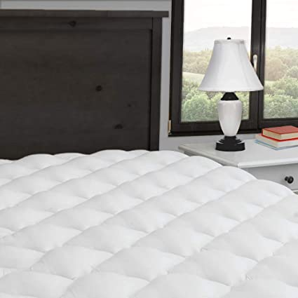 Exceptionalsheets Extra Plush And Thick Mattress Pad With Ed Skirt Found In Marriott Hotels