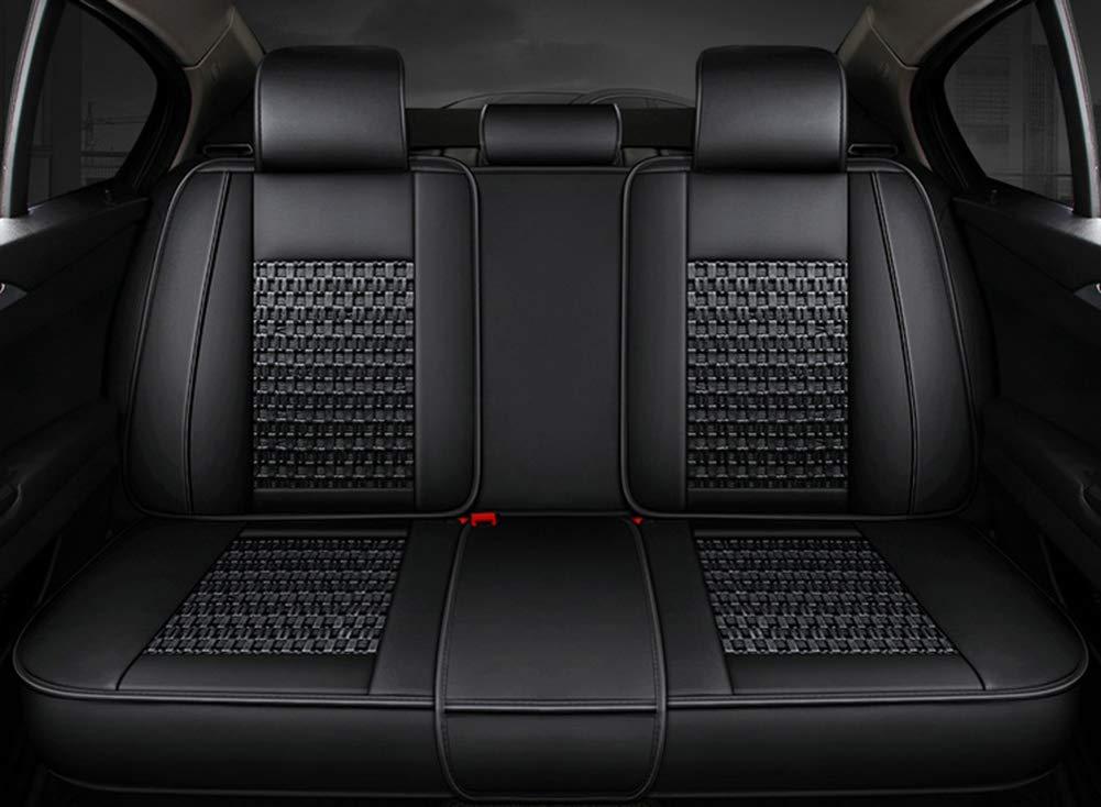 YRRC cubierta de asiento de coche compatible con el frente universal y el alambre de hielo trasero 5 BMW Honda Toyota funda de asiento coj/ín completo,Black