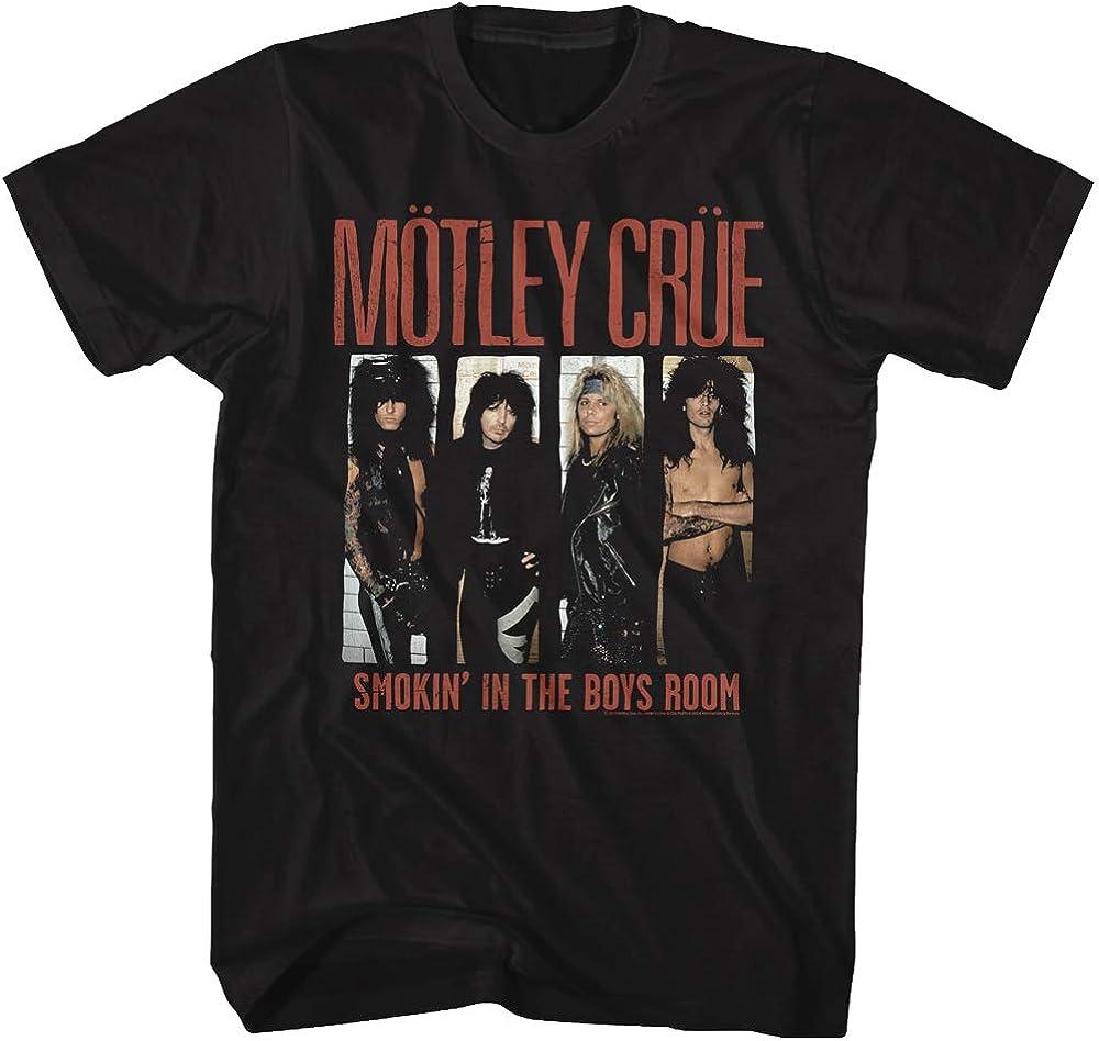 Motley Crue Smokin in The Boys Room Adult Black Tee Shirt