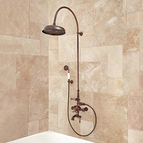 - Signature Hardware 205530 Oxford Exposed Thermostatic Tub and Shower System with Hand Shower and Tub Spout