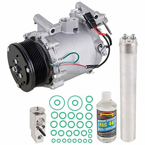 AC Compressor w/A/C Repair Kit For Honda Civic Si Sedan 2006 2007 2008 2009 2010 2011 - BuyAutoParts 60-81574RK NEW ()