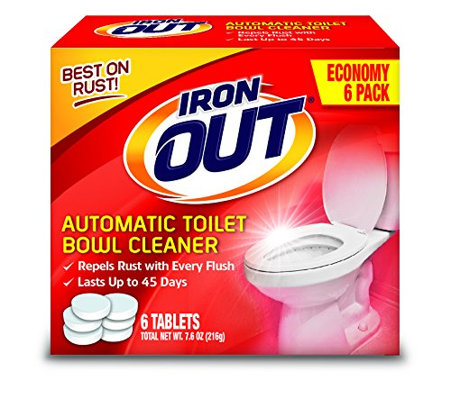 - Iron OUT Automatic Toilet Bowl Cleaner, 1 Pack, 6 Tablets
